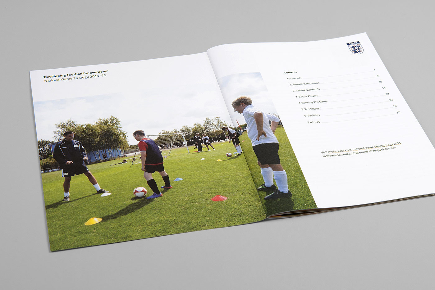 The Fa National Game Strategy Design Booklet Print Football Kids Playing