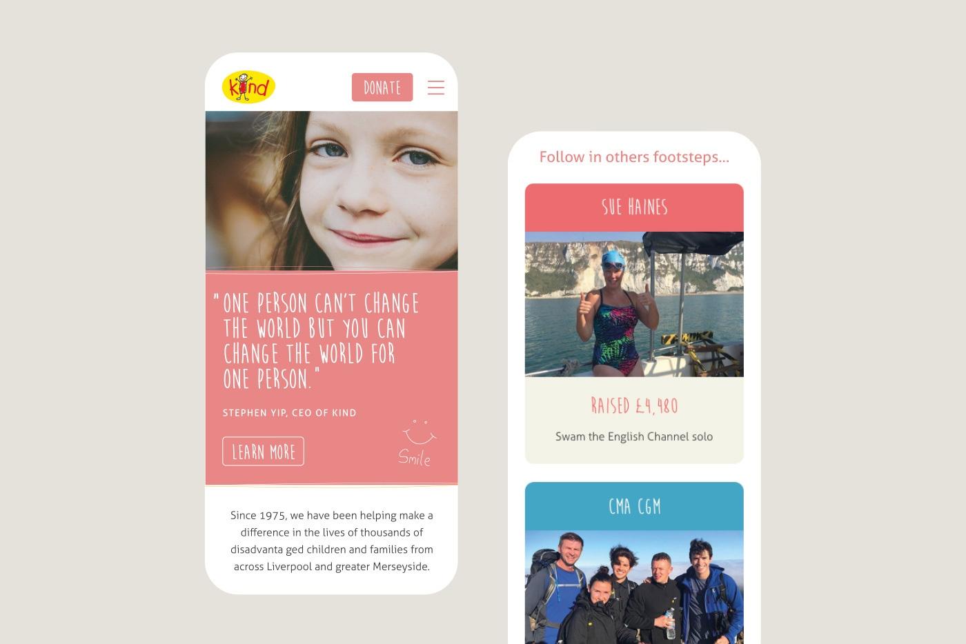 Arts charity web design branding kind 2