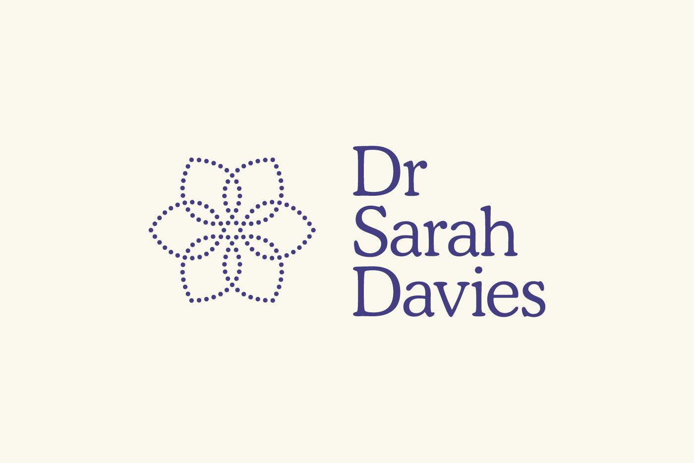 Dr Sarah Davies Branding Logo Identity