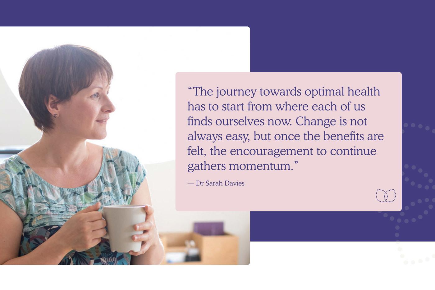 Dr Sarah Davies Website Screenshot Quote