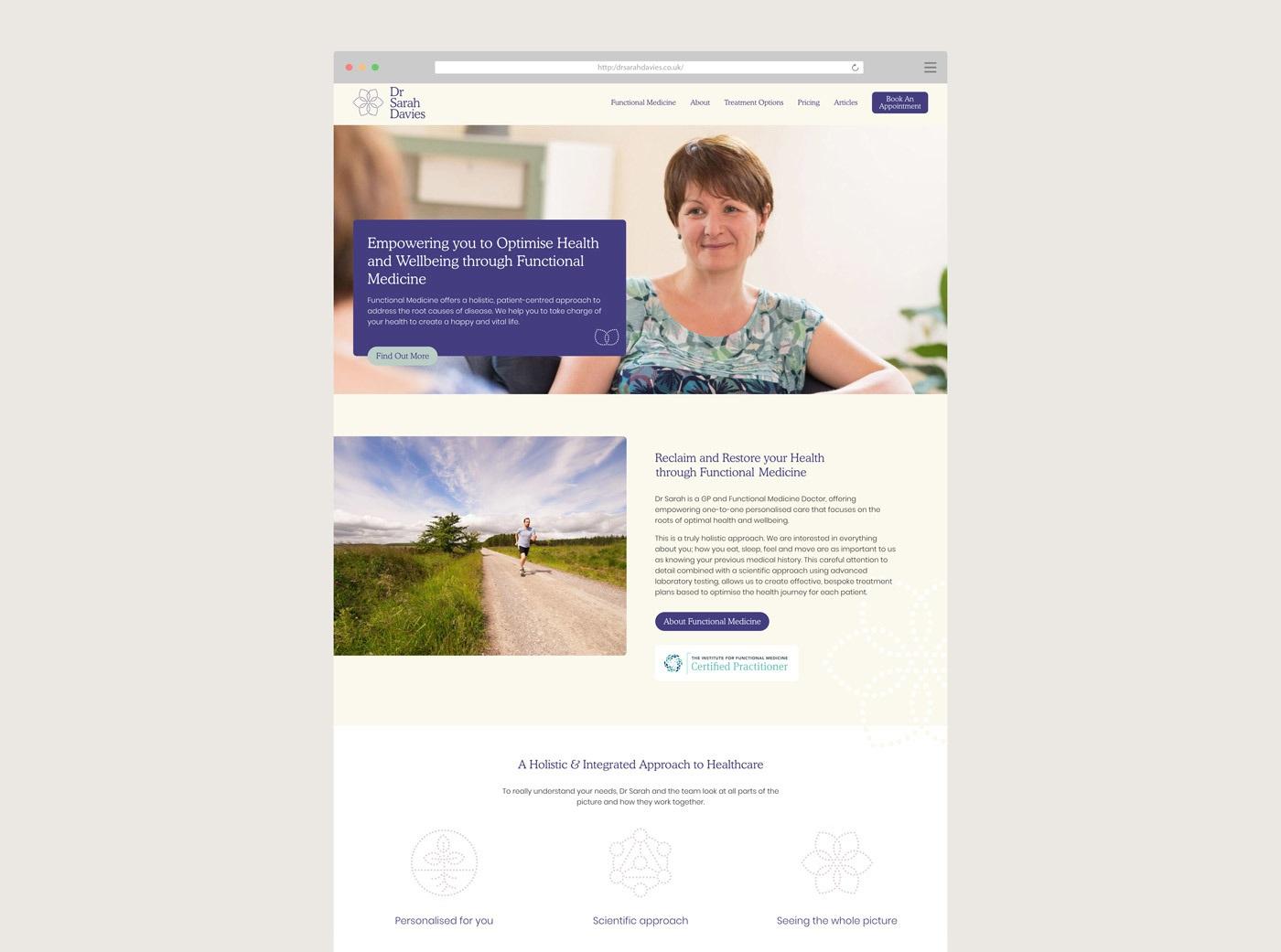 Medical web design agency branding raw dr sarah davies 2