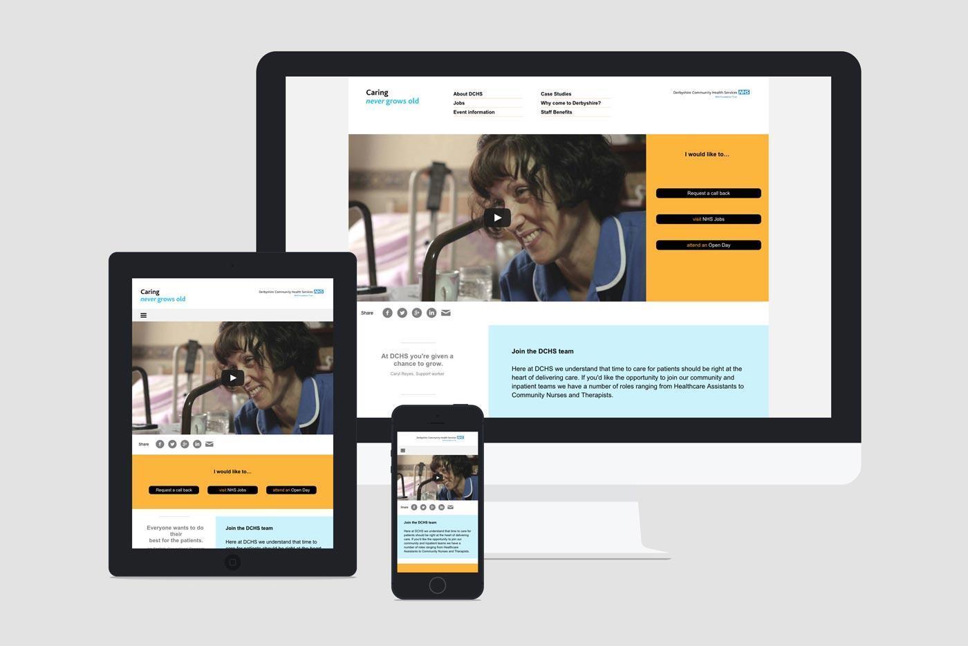 Medical web design agency branding raw nhs 1