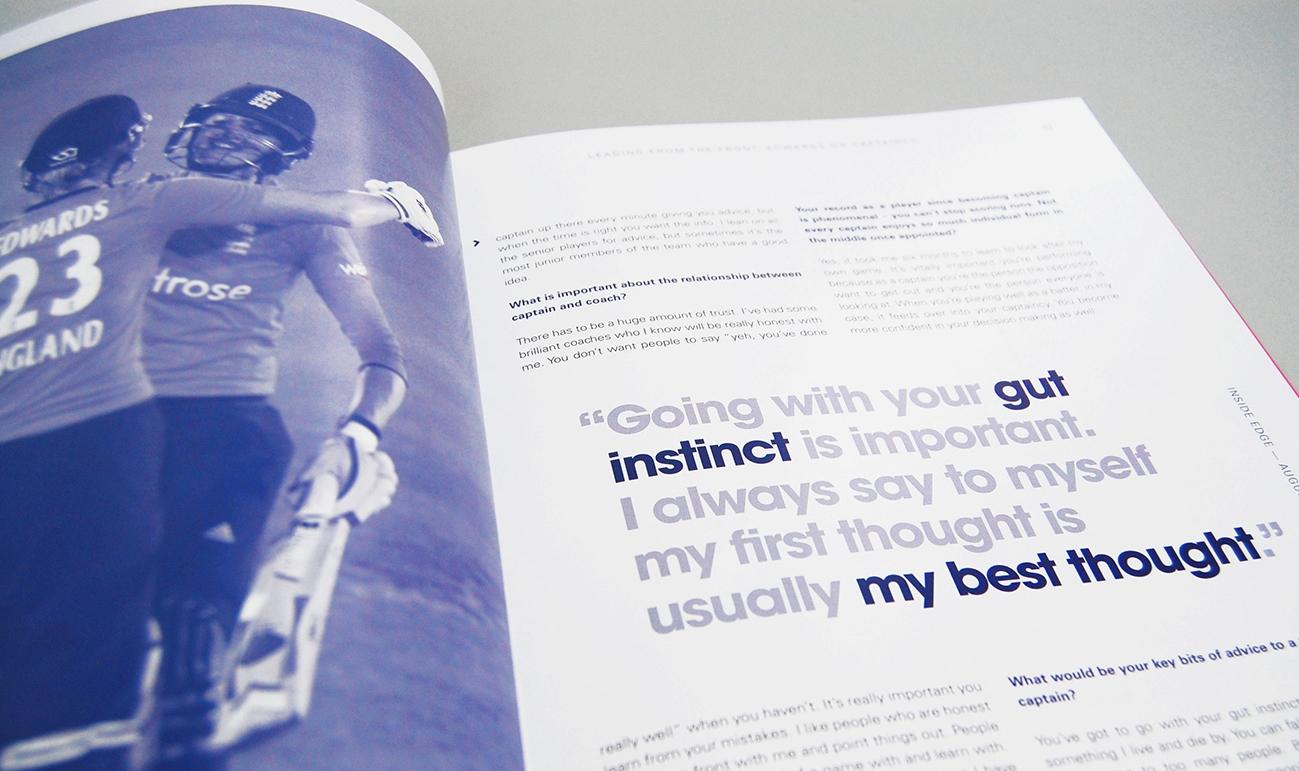Sports web designers branding specialists ecb magazine 2