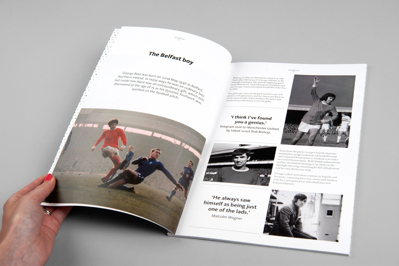 Sports web designers branding specialists george best 1